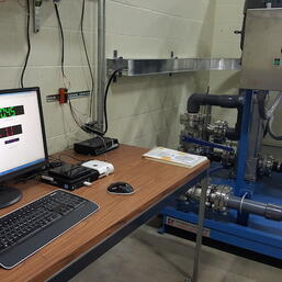 NFC 350 GPM water flow test stand with data acquisition