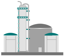 midstream process and storage